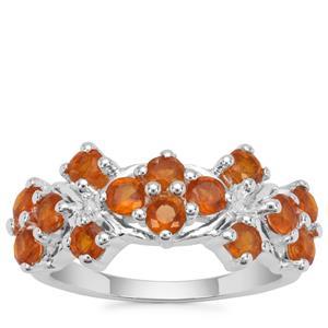 Loliondo Orange Kyanite Ring in Sterling Silver 2.06cts