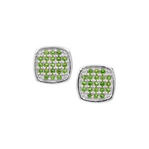 0.21ct Chrome Diopside Sterling Silver Earrings