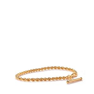 9K Gold Altro Hollow Rope Albert Bracelet 3.10g