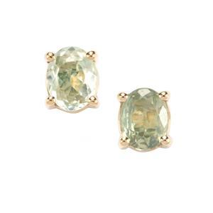 Alexandrite Earrings in 10K Gold 0.71ct