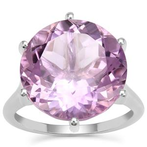 Rose De France Amethyst Ring in Sterling Silver 11.20cts