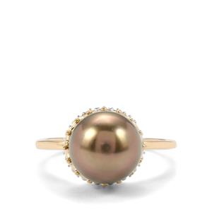Maruata Cultured Pearl Ring in 9K Gold (10mm x 9.50mm)