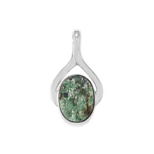 Fuchsite Drusy Pendant in Sterling Silver 10cts