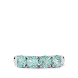 2.13ct Madagascan Blue Apatite Sterling Silver Ring