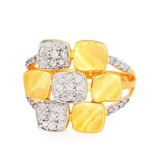 1/2ct Diamond Ring in Gold Plated Sterling Silver