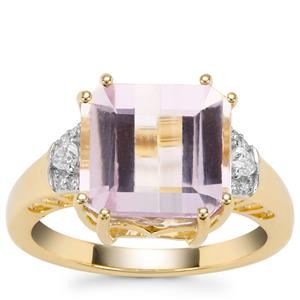Kolum Kunzite Ring with Diamond in 18K Gold 6.65cts