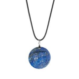 "Gem Auras 18"" Lapis Lazuli Egyptian Goddess Necklace ATGW 55cts"