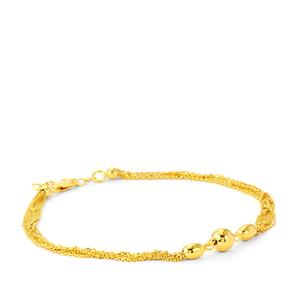 Station Bracelet in Gold Plated Sterling Silver