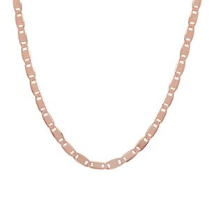 "24"" Rose Midas Diamond Cut Batutta Slider Chain 3.16g"