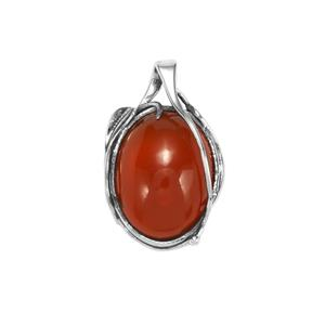 American Fire Opal Pendant in Sterling Silver 13.68cts