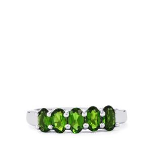 1.23ct Chrome Diopside Sterling Silver Ring