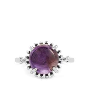 Amethyst Ring in Sterling Silver 4.45cts