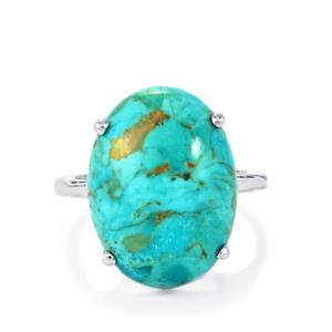11.71ct Cochise Turquoise Sterling Silver Ring