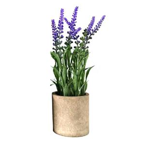 Tall Artificial Lavender Plant in Pot