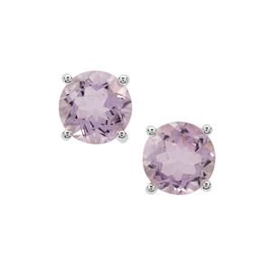 Rose De France Amethyst Earrings in Sterling Silver 7.50cts
