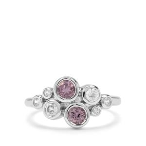 Mahenge Purple Spinel & White Zircon Sterling Silver Nora Saul Ring ATGW 1.02cts