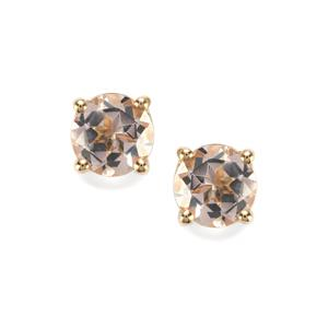 Alto Ligonha Morganite Earrings in 10K Gold 1.40cts