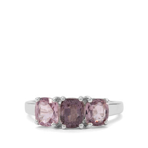 2.42ct Burmese Pink Spinel Sterling Silver Ring