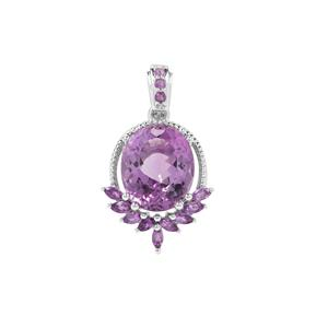 Ametista Amethyst Pendant with Bahia Amethyst in Sterling Silver 5.38cts