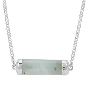Gem-Jelly Aquaprase Necklace  in Sterling Silver 9.02cts