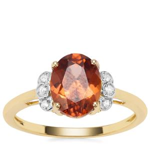 Umba Zircon Ring with White Zircon in 9K Gold 2.64cts