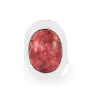 Thulite Ring in Sterling Silver 14cts