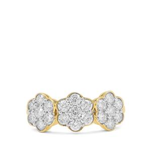 GH Diamond Ring in 18K Gold 1cts
