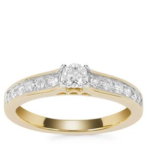Canadian Diamond Ring in 18k Gold 0.51ct