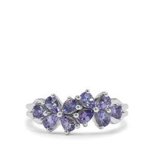 Tanzanite Ring in Sterling Silver 1.40cts