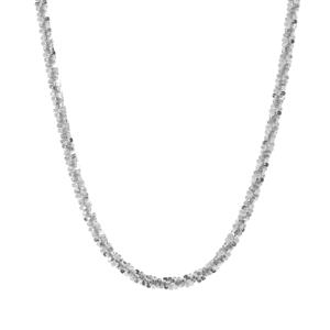 "18"" Sterling Silver Couture Diamond Cut Criss Cross Chain 3.24g"