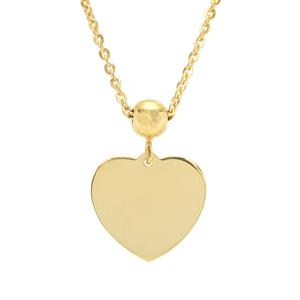 "18"" Midas Altro Heart Slider Necklace 2.56g"