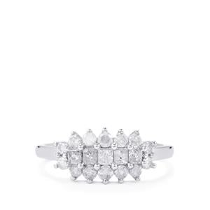 Diamond Ring in 10k White Gold 0.76ct