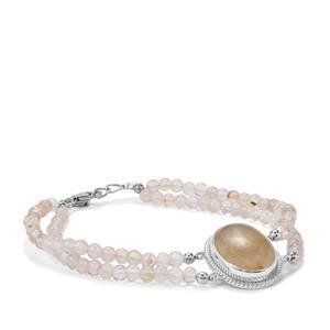 44.42ct Rutilite Sterling Silver Aryonna Bead Bracelet