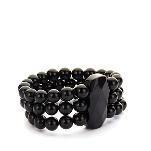 418ct Black Obsidian Stretchable Bracelet
