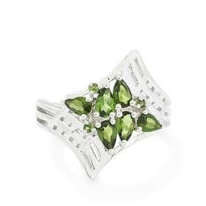 1.08ct Chrome Tourmaline Sterling Silver Ring