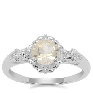 Serenite Ring with White Zircon in Sterling Silver 0.87ct