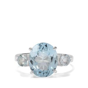 6.50cts Sky Blue Topaz Sterling Silver Ring
