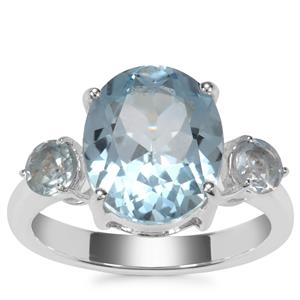Sky Blue Topaz Ring in Sterling Silver 6.50cts