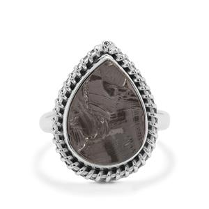Shungite Ring in Sterling Silver 6cts