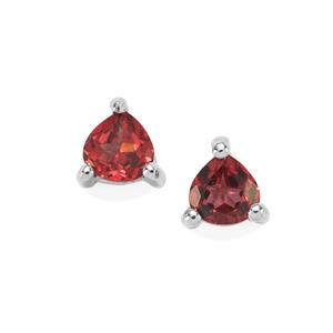 Ajmer Garnet Earrings in Sterling Silver 0.83ct