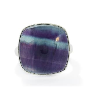 21.63ct Argentine Rainbow Fluorite Sterling Silver Aryonna Ring