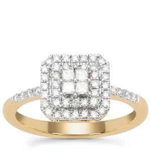Diamond Ring in 18K Gold 0.50ct
