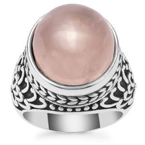 Rose Quartz Ring in Pewter 10.65cts