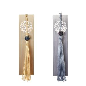 Gem Auras Bookmark in Gold or Silver with Black Obsidian Bead ATGW 10cts