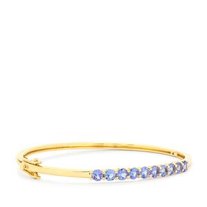 AA Tanzanite Bangle in 9K Gold 2.92cts