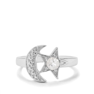 'The Intuition Moon & Star' Ring 0.43ct