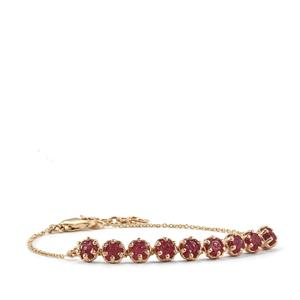 Malagasy Ruby bracelet in 9K Gold 4.58cts