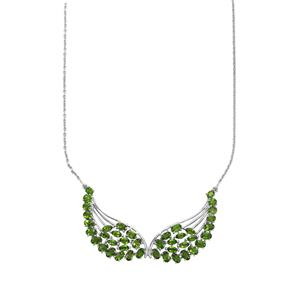 9.16ct Chrome Diopside Sterling Silver Necklace