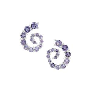 2.15ct Tanzanite Sterling Silver Earrings