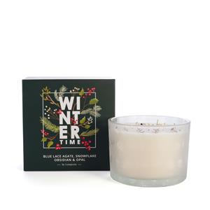 Winter Triple Wick Candle 2018 with Genuine Gemstones ATGW 30cts